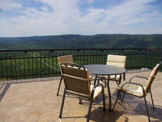 Motovun apartment photo - Great panoramic view from the Villa Borgoo terrace