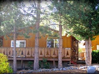 Wrightwood cabin photo - The Little Pines Cabin (on left) can be combined with the Hideaway (on right).
