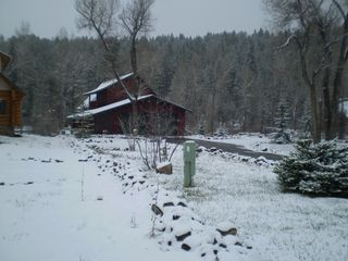 Pagosa Springs cabin photo - Winter time at Lazy Bear - taken from street