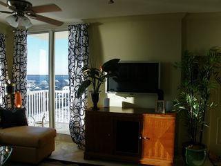 Navarre Beach condo photo - Private balcony for the 2nd Master suite.