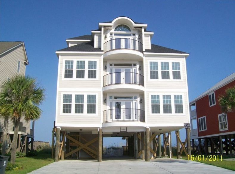 999 s waccamaw drive for Beach house elevator