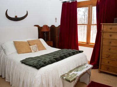 Guest Room upstairs with queen size bed