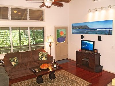 Hanalei house rental - Guest House: The media centers have DVDs, iPod docks, TVs and media libraries.