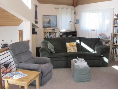 Gualala house rental - Loft with books, videos, DVDs, CDs, and tapes