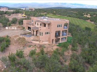 Albuquerque house photo - Helicopter photo just prior to construction completion in 2005.