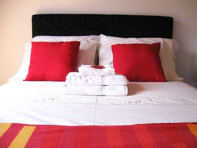 Towels & quality bedlinen provided