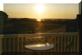 Corolla house photo - Sunset View over the Sound from Loft deck