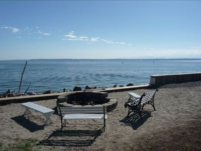 The firepit at the community beach - we also have a fire pit at the cottage.