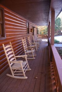 The wrap around deck makes for a wonderful relaxing environment
