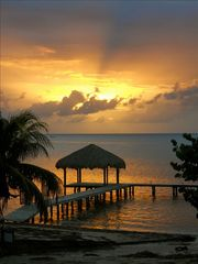 Roatan hotel photo - Private pier and palapa