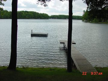 Shore, dock and swim platform! Taken from deck!
