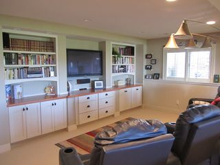Theater Area in Family Room - Saugatuck / Douglas townhome vacation rental photo
