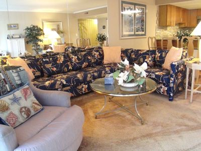 Sovereign Sea Ocean City condo rental - Large bright Living room with full size sleeper and 51'' Flat screen TV