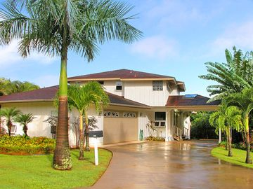 Princeville house rental - Our Spacious 4300 Sq Ft Home and Lush Tropical Gardens