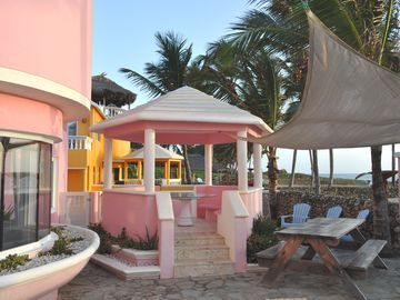Private Gazebo for Dining or Drinks at Villa Flamingo