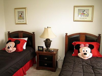 Kids Rooms featuring a Mickey Mouse Theme and its Own Private TV and DVD