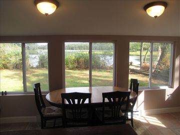 Sun room overlooking Goldsmith Inlet