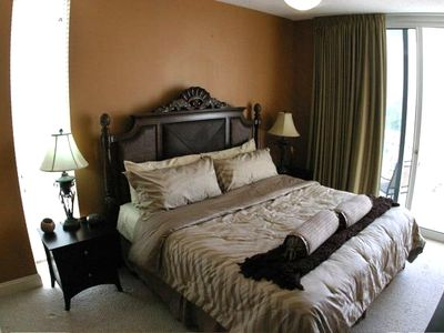 "2nd Master offers King Bed, Private Balcony, Full Bath, and 32"" LCD HDTV!"