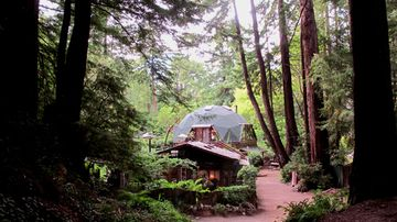 Big Sur cottage rental - Calla Lilly Cottage in front of The Dome House