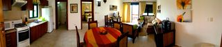 Punta Cana apartment photo - Panoramic view of the apartment (on the left the Kitchen and 2nd bathroom)