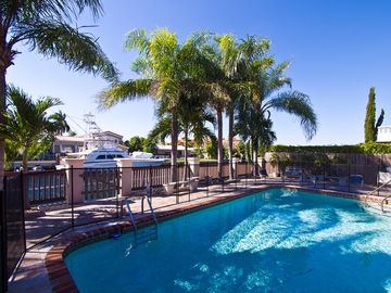Miami Beach house rental - View of the swimming pool from the terrace of this georgous 5 bedroom Waterfront