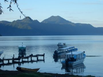 Lake Atitlan townhome rental - Santa Catarina dock