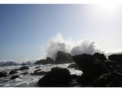 The ocean crashing over the rocks at our favorite beach. Breathtaking!