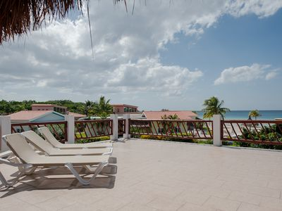 Cozumel Sol's sweeping terrace overlooking the Caribbean