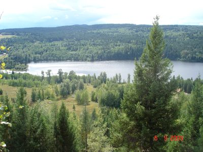 Cariboo cottage rental - View from the upper trail