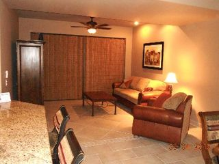 Puerto Penasco condo photo - Living Room with queen sofa sleeper, entertainment center and wireless internet.