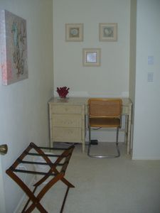 Desk area in queen bed room