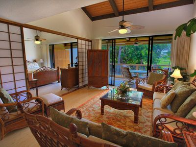 Spacious great room opens to lanai