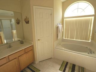 Orange Tree villa photo - Large Master Bedroom ensuite with walk-in shower and separate toilet
