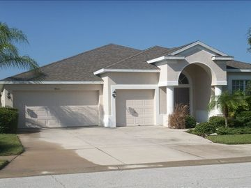 Bradenton house rental - Our beautiful home ......the entrance with it's manicured gardens
