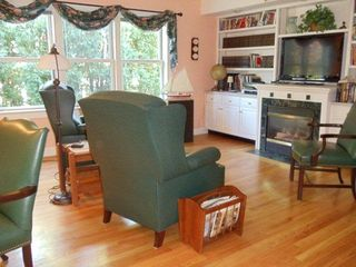 Middletown house photo - Study/Den with fireplace and flat screen TV