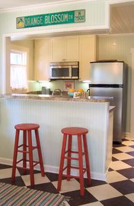 Charming kitchen dinette area.