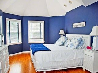 Edgartown house photo - Bedroom #1 - Master King Suite With Vaulted Ceiling, Full Bath. Second Floor