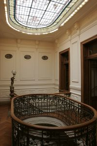 Main skylight and railing.