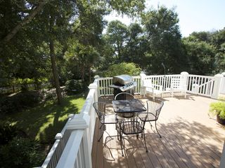 Folly Beach house photo - Large Back Grilling Deck With Fenced Yard