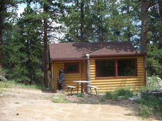 Estes Park cabin photo - Front view of smaller cabin