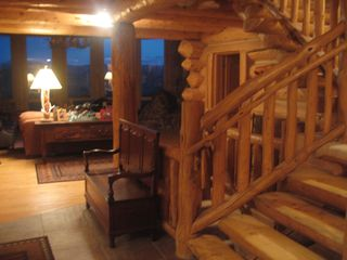 Granby lodge photo - Entry and Grand Log Staircase