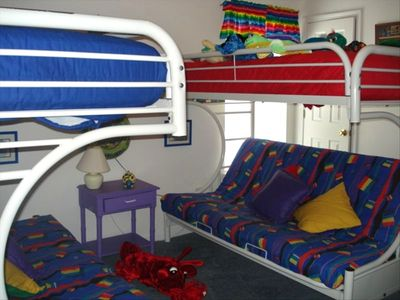 Colorful Children's Room.....They will love it...TV/DVD/VCR!!