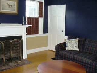 Woodstock house photo - .Den gas fireplace