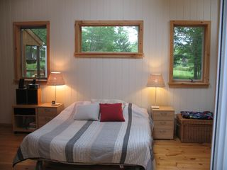 Master Bedroom with 4' skylight and lLarge windows with amazing views - Claryville cabin vacation rental photo