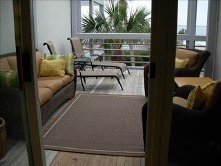 Seabrook Island condo photo - Outdoor living on large ocean view deck