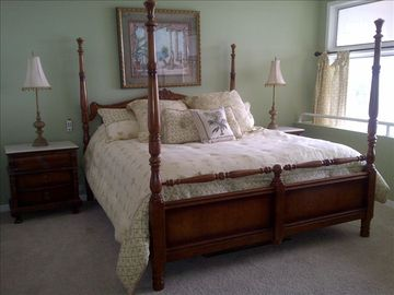 Master bedroom has a king bed, great view & private bath with jetted tub.