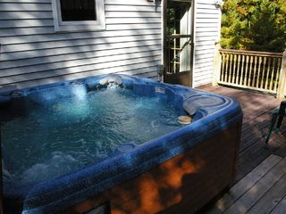 Saugatuck / Douglas house photo - relax in the 6 person hot tub on the upper deck with lots of privacy