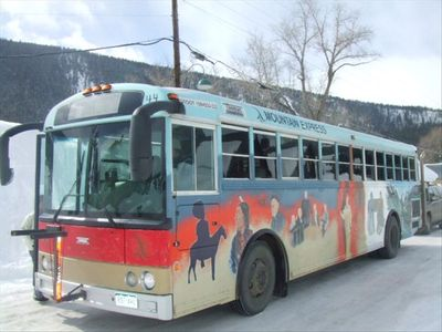 Crested Butte Free Ski Shuttle every 15 minutes a half block from your door.