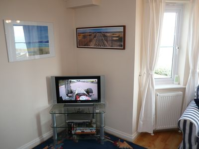 St Ives apartment rental - Flat Screen TV and modern pictures