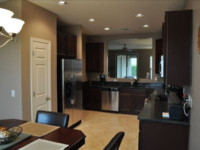 Fully supplied kitchen with all stainless steel appliances...